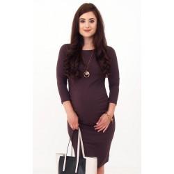 Hnedé tehotenské šaty