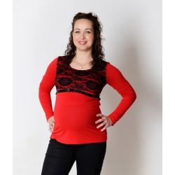 Tehotenské tričko s čipkou