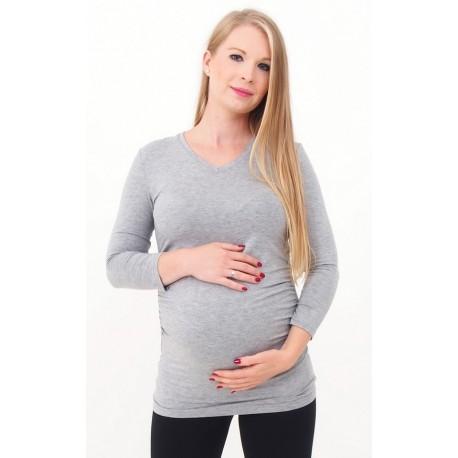Tehotenské tričko sivé