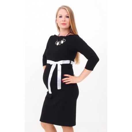 Tehotenské šaty Silvia - čierne