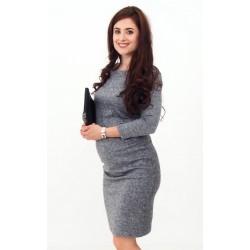 Pletené šaty - šedé