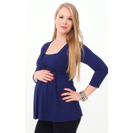 Tehotenské tričko - tmavomodré