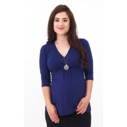Tehotenské tričko Vanda - tmavomodré