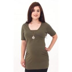 Tunika pre tehotné a pre dojčiace ženy - khaki