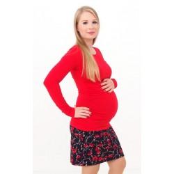 Tehotenská sukňa s potlačou vlčieho maku