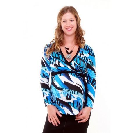 Tehotenské tričko modré