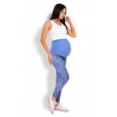 Tehotenské legíny PeeKaBoo - modré