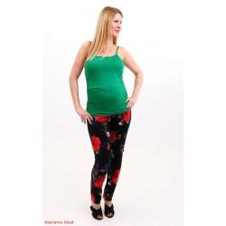 Tehotenské nohavice s kvetmi