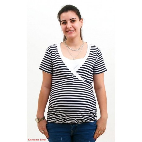 Tričko na dojčenie - námornícke