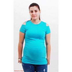 Tehotenské tričko tyrkys