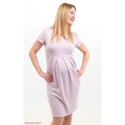 Bledofialové tehotenské šaty