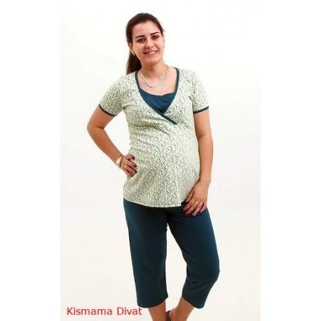 Pyžamo pre tehotné a dojčiace ženy - zelené