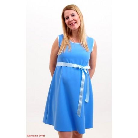 Letné tehotenské šaty - modré