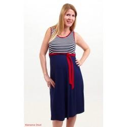 Tehotenské šaty Monika - tmavomodré