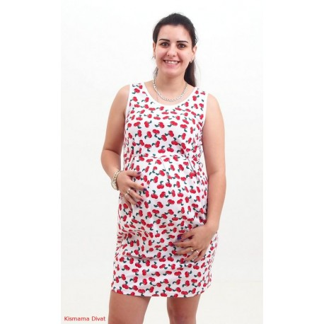 Tehotenské šaty s čerešňami