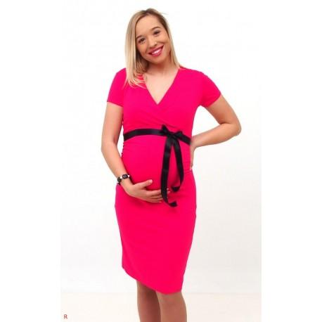 Tehotenské šaty ružové