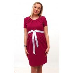 Ružové tehotenské šaty