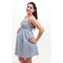 Letné tehotenské šaty - zelené