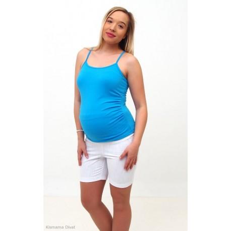 Biele tehotenské šortky