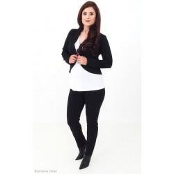 Tehotenské nohavice slim - čierne