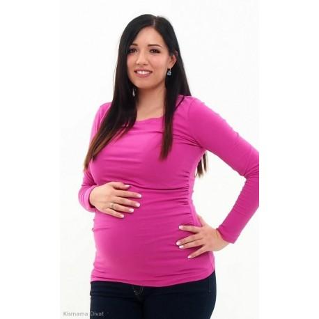 Tehotenské tričko ružové