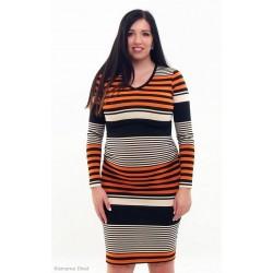 Pásikavé tehotenské šaty