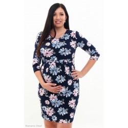 Tehotenské šaty kvetinové