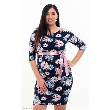 Tehotenské šaty Silvia - kvetinové