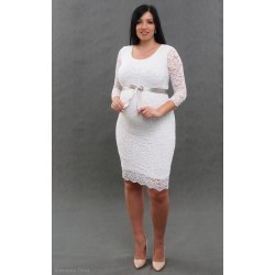 Čipkované svadobné šaty biele