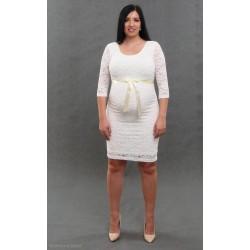 Čipkované svadobné šaty ecru