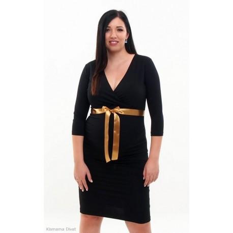Tehotenské šaty čierne