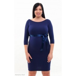 Tehotenské šaty Silvia - tmavomodré