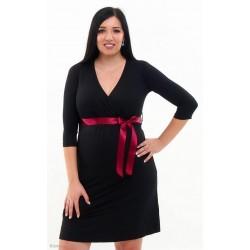 Tehotenské šaty Vanda - čierne