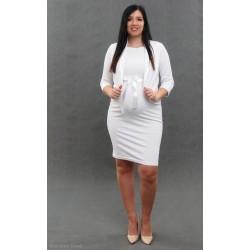 Tehotenské svadobné šaty s blejzrom - biele