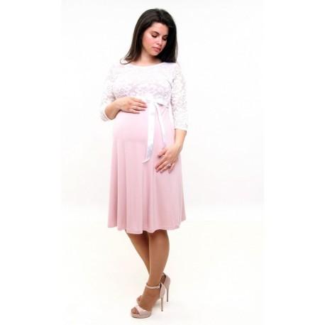 Púdrové tehotenské šaty