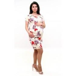 Tehotenské šaty s krátkym rukávom