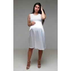 Saténové svadobné šaty bez rukávov