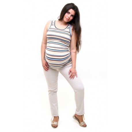 Tehotenské nohavice drapové