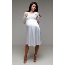Saténové svadobné šaty bez rukávov s bolerkom