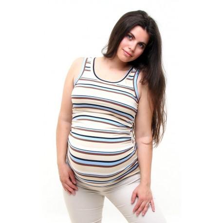 Tehotenské tielko - pásikavé