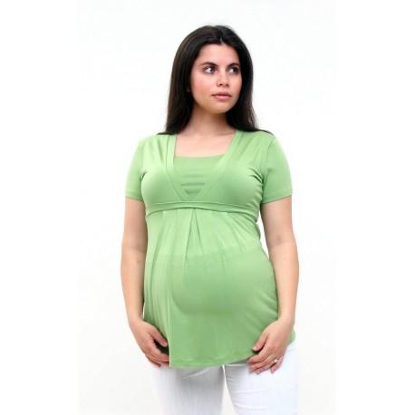 Tehotenské tričko - zelené