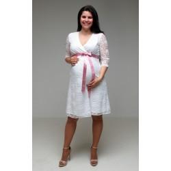 Čipkované svadobné šaty Vanda - biele
