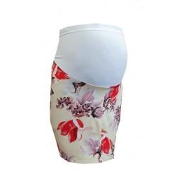 Kvetovaná tehotenská sukňa