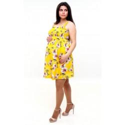 Letné tehotenské šaty -žlté