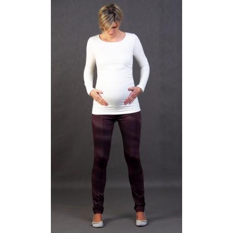 Hrubé tehotenské tričko - ecru