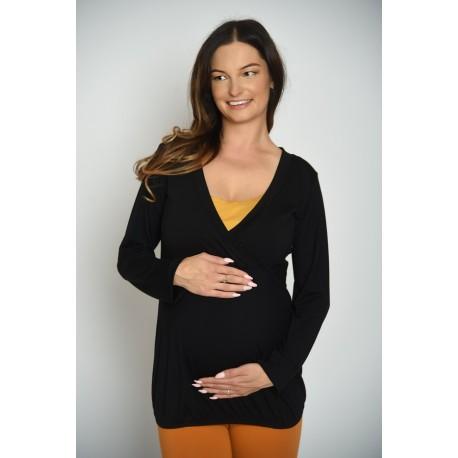 Tričko pre tehotné a pre dojčiace ženy - čierne