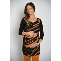 Tehotenská tunika - pásikavá