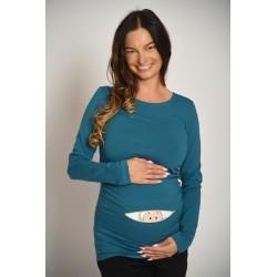 Tehotenské tričko s potlačou Baby - chlapec