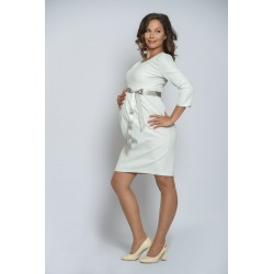 Tehotenské svadobné šaty bielo-strieborné