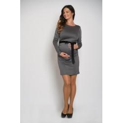 Tehotenské šaty - šedé